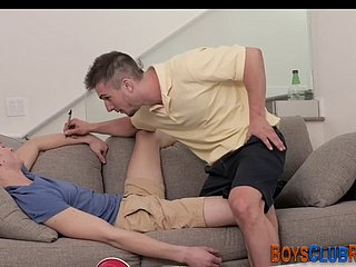 Dick licking gay dude gets his irritant