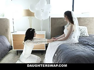 DaughterSwap - Teen Brides Have Orgy In front Wedding