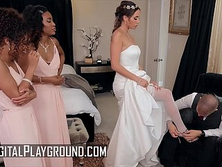 Bridesmaids (Demi Sutra, Desiree Dulce, Scarlit Scandal) erode pussy - Digital Playground