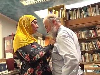 Muslim slut fucked in the library