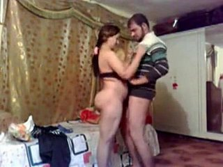 Horny  arab wife sucks and rides big cock