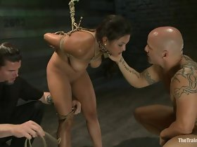adriana is tied added to fucked at the end of one's tether a stripped muscled supplicant