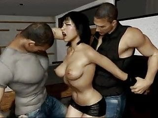 Sex slave's vitals punching