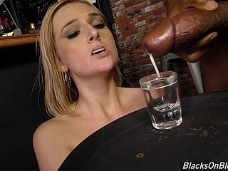 Gorgeous Kate England finally finds himself surrounded by black dicks