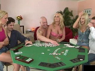 Poker beguilement curves into an amazing orgy in the matter of horseshit hope blondes